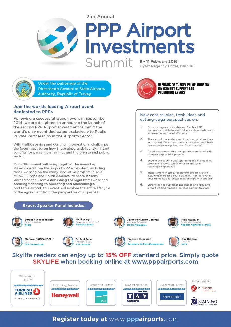 Jan 14, 2016 - 2nd PPP International Airport Investment Summit - NEWS - Elmadag Law Office